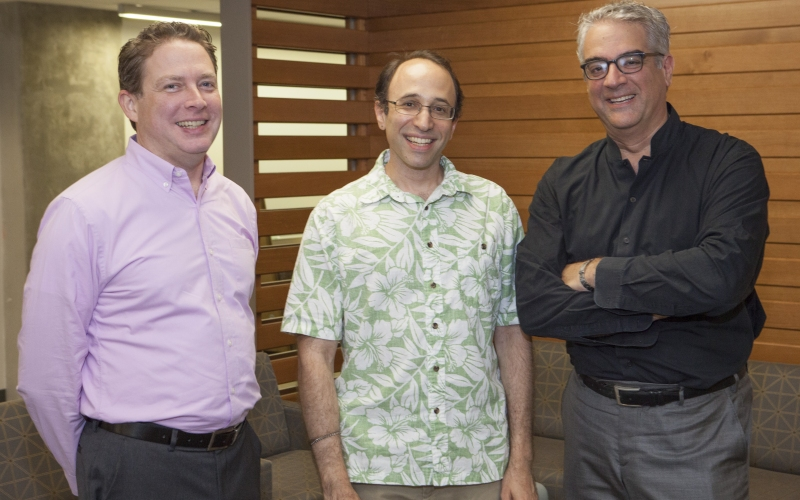 Left to right: Executive Director Tom Keegan, Co-Director Dan Spielman, and Co-Director Nicholas Christakis.